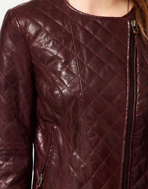 Image 3 ofUrban Code Quilted Leather Biker Jacket
