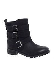 ASOS ASTERIX Leather Biker Boots