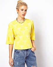 ASOS Shell Top in Abstract Jacquard