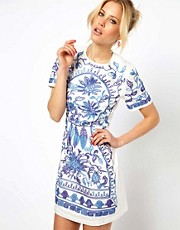 ASOS Shift Dress With Cornelli Trim