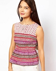 People Tree Indian Print Peplum Top By Kumudini Bangladesh