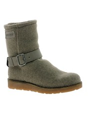 Bronx Leather Buckle Ankle Boots