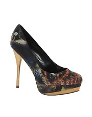 Blink Printed Platform Heeled Shoe