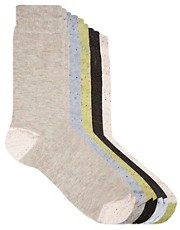 River Island  Melierte Socken im 5er-Set