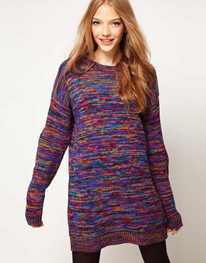 Image 1 ofASOS Jumper Dress In Twist Yarn