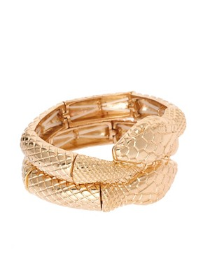 Image 1 ofASOS Pack of Two Snake Stretch Bracelets