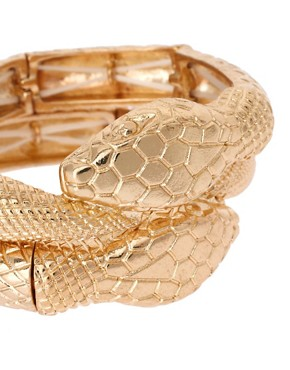 Image 4 ofASOS Pack of Two Snake Stretch Bracelets