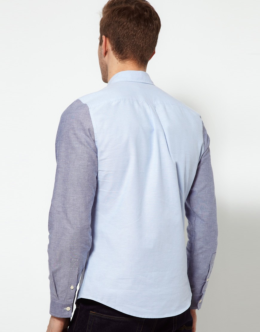 Image 2 of ASOS Oxford Shirt With Contrast Pocket