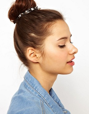 Image 1 ofRiver Island Spiked Bun Top Head Band