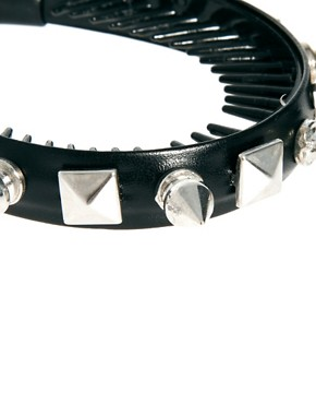 Image 3 ofRiver Island Spiked Bun Top Head Band