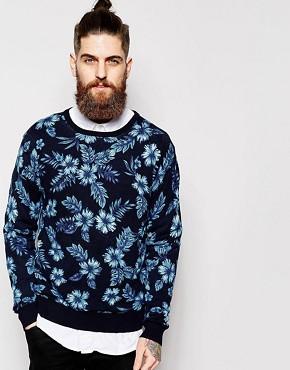 Scotch & Soda Sweatshirt with Floral Print