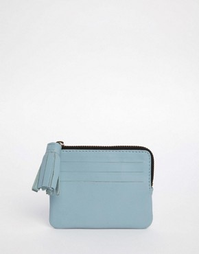 ASOS Leather Coin Purse With Tassel