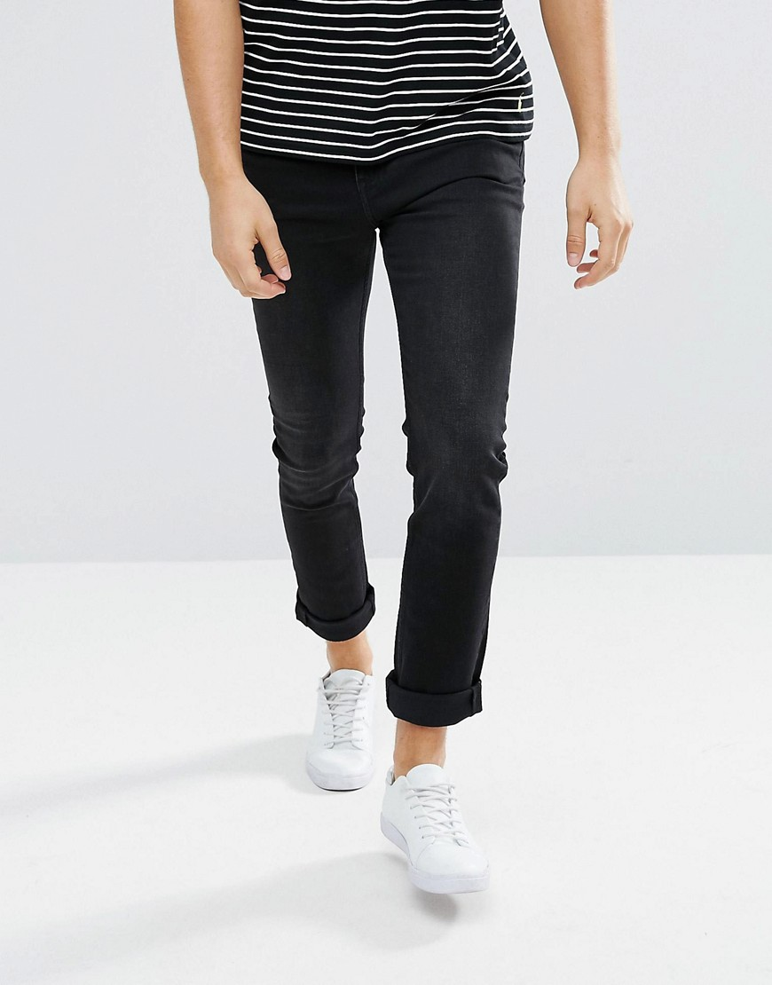 Cheap Monday Sonic Slim Jeans Sure Black - Black