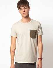 ASOS T-Shirt With Canvas Pocket