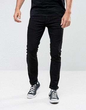 Nudie Jeans Tight Long John Skinny Jeans Black Wash