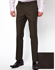 Lambretta Slim Fit Check Suit Trousers