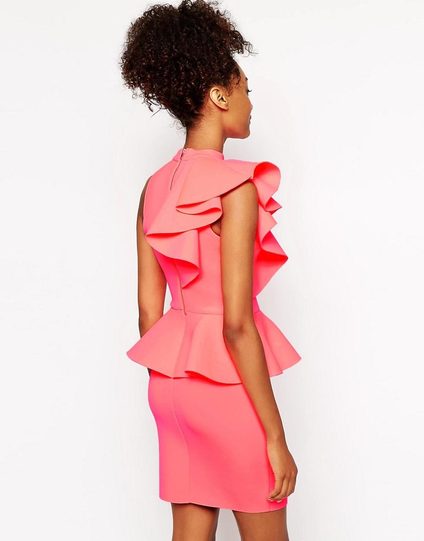 Image 2 ofRiver Island Peplum Ruffle Dress