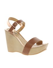 Dune Gorham Ankle Strap Platform Wedges