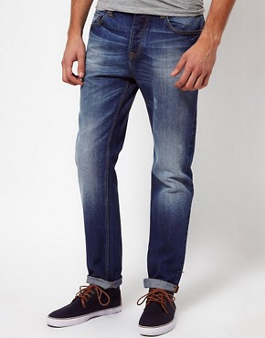 Image 1 ofASOS Blue Slim Jeans