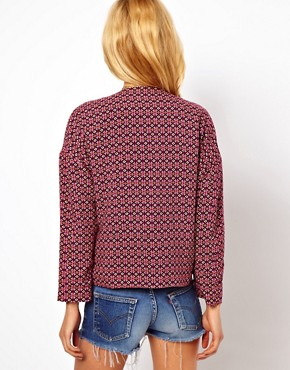 Image 2 ofASOS Blazer in Geo Tile Print