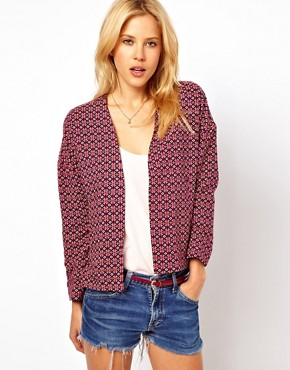 Image 1 ofASOS Blazer in Geo Tile Print