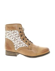 Steve Madden Thundr-C Crochet Lace Up Ankle Boots