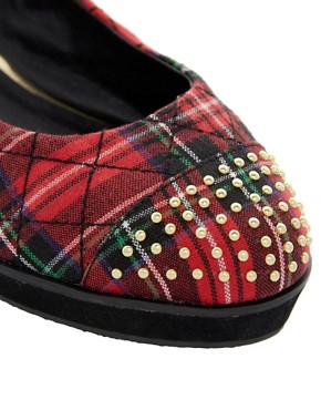 Image 2 ofRiver Island Tartan Flatforms