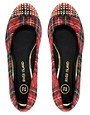 Image 3 ofRiver Island Tartan Flatforms