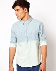Another Influence Denim Shirt With Stripe
