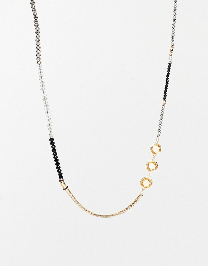 Adele Marie Multi Bead Long Necklace - Black