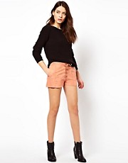 Ganni Shorts in Ingrid Suede