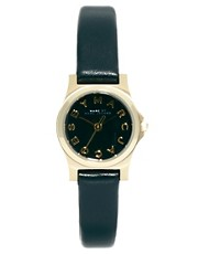 Marc By Marc Jacobs Mini Henry Black Leather Strap Watch