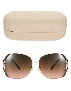 Image 2 ofMango Touch Oversized Round Metal Frame Sunglasses