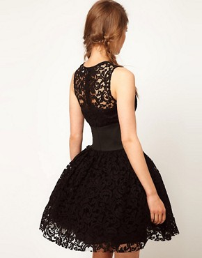 Image 2 of ASOS Prom Dress in Lace With Elastic Waist
