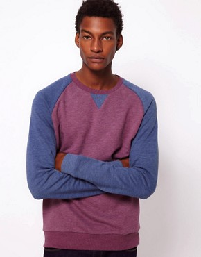 Image 1 ofASOS Sweatshirt With Raglan Sleeves