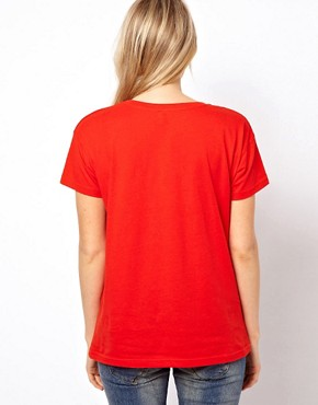Image 2 ofASOS T-Shirt with Stolen Hearts Print