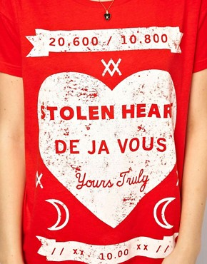 Image 3 ofASOS T-Shirt with Stolen Hearts Print