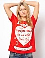 Image 1 ofASOS T-Shirt with Stolen Hearts Print