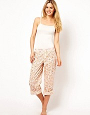 Calvin Klein Woven Jasmine Roll Up PJ Pant