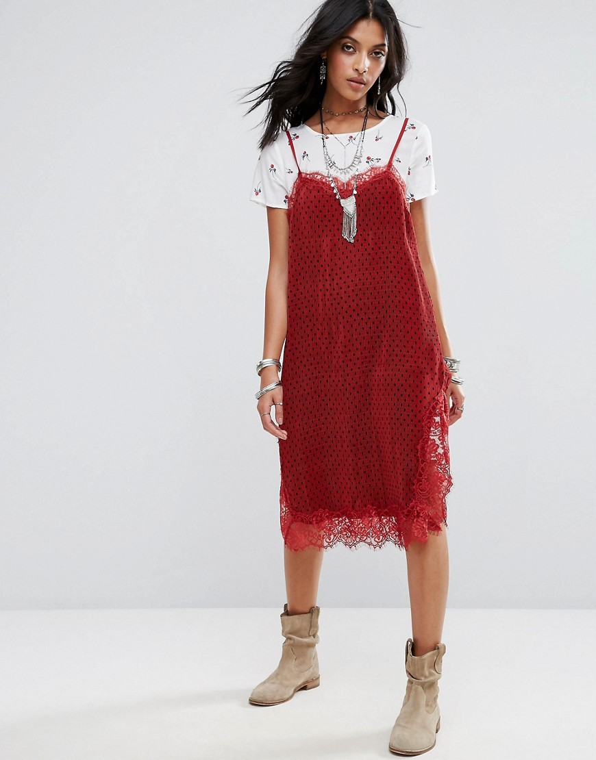 Free People Margot Polka Slip Dress