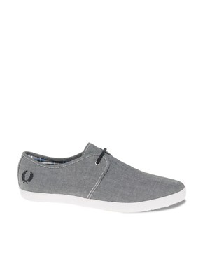 Image 1 ofFred Perry Banks Chambray Plimsolls