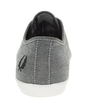 Image 2 ofFred Perry Banks Chambray Plimsolls