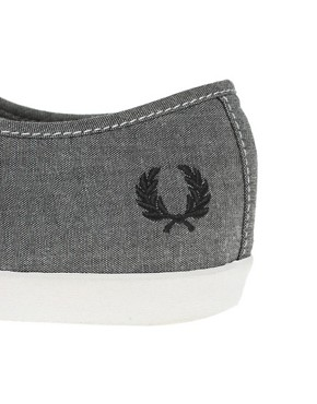 Image 4 ofFred Perry Banks Chambray Plimsolls