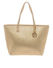 Love Moschino Metallic Woven Shopper
