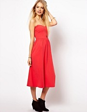 ASOS Bandeau Sundress With Skater Skirt