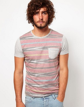 Image 1 ofASOS T-Shirt With Aztec Blanket Print And Pocket