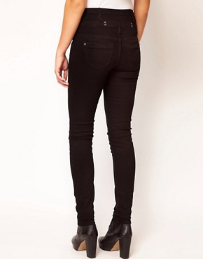 Image 2 ofRiver Island Basque Skinny Jean In Black Denim