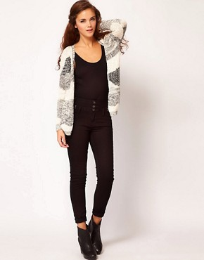 Image 4 ofRiver Island Basque Skinny Jean In Black Denim