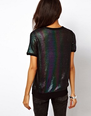 Image 2 ofASOS Jumper with Rainbow Foil