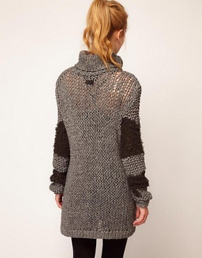 Image 2 ofDiesel Mixed Knitted Dress
